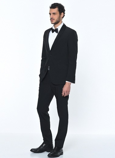 Fabrika Erkek Siyah Takım Elbise Smokin 3042058 Siyah